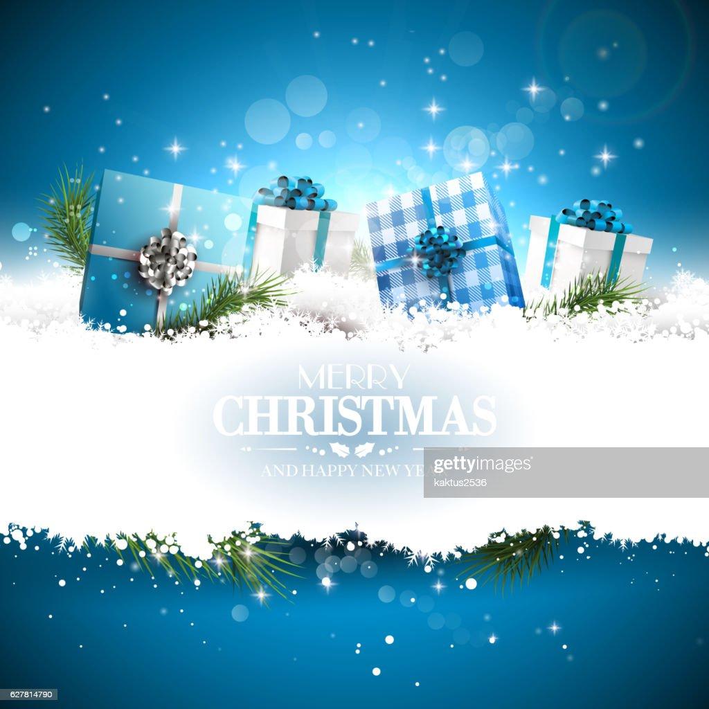 Luxury Christmas greeting card