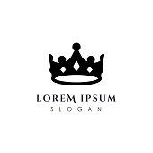 Luxury crown icon vector template. linear crown icon vector design