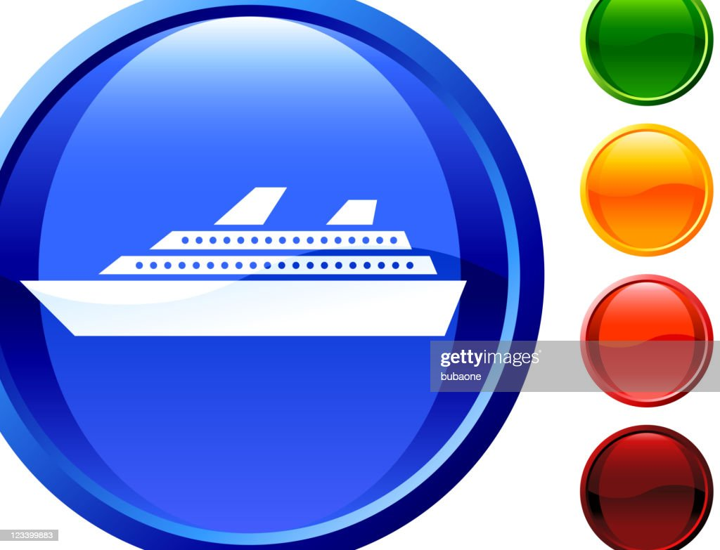 Luxury Cruise Ship Internet Royalty Free Vector Art stock