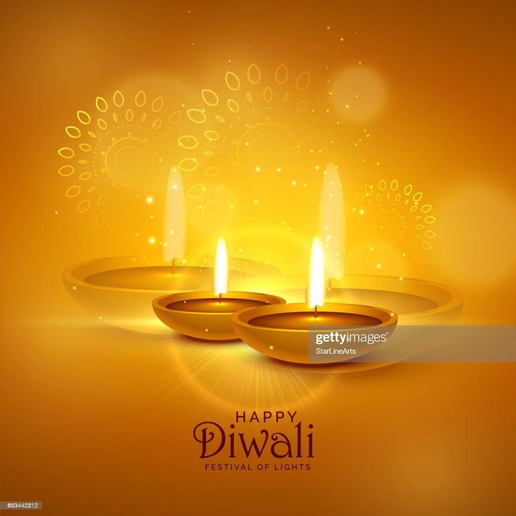 luxury diwali festival greeting background with decorative elements