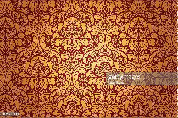 luxury floral pattern - brocade stock illustrations