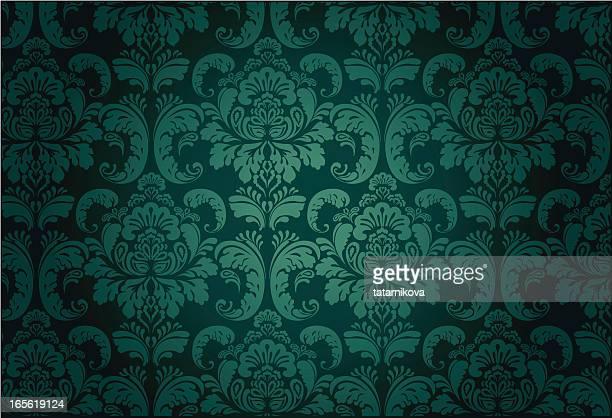 luxury floral pattern#3 - brocade stock illustrations