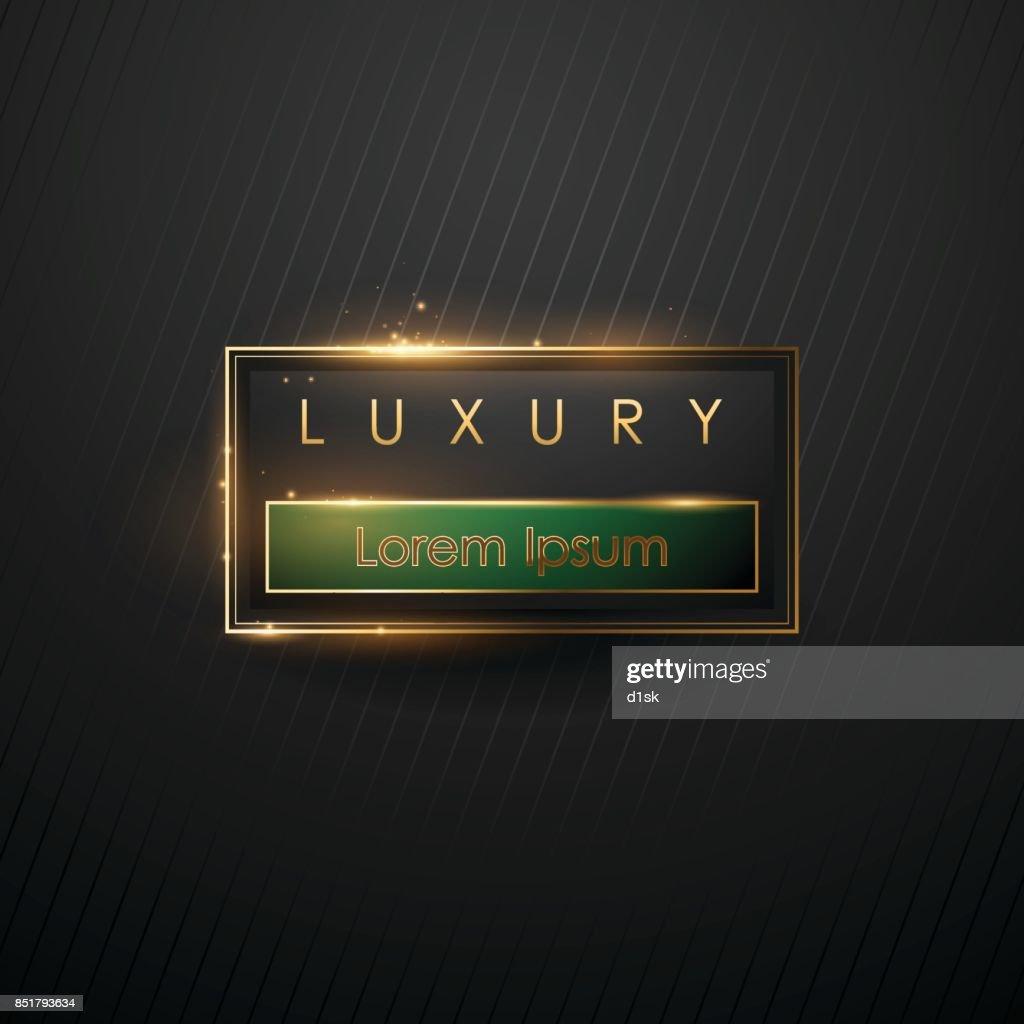 Luxury frame template