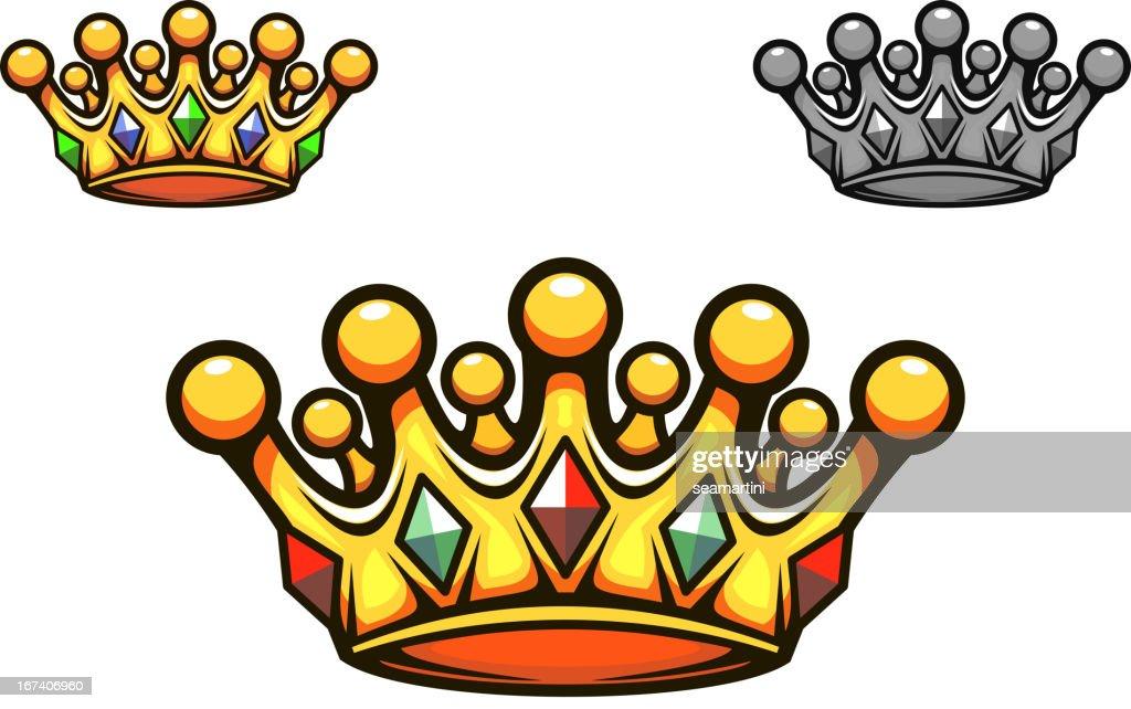 Luxury gold crown : Vectorkunst