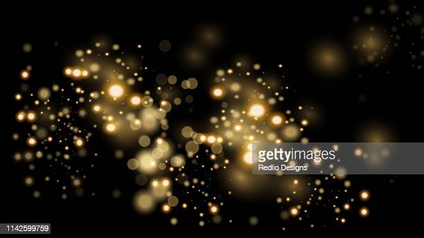 luxury golden glittering dark background - shiny stock illustrations