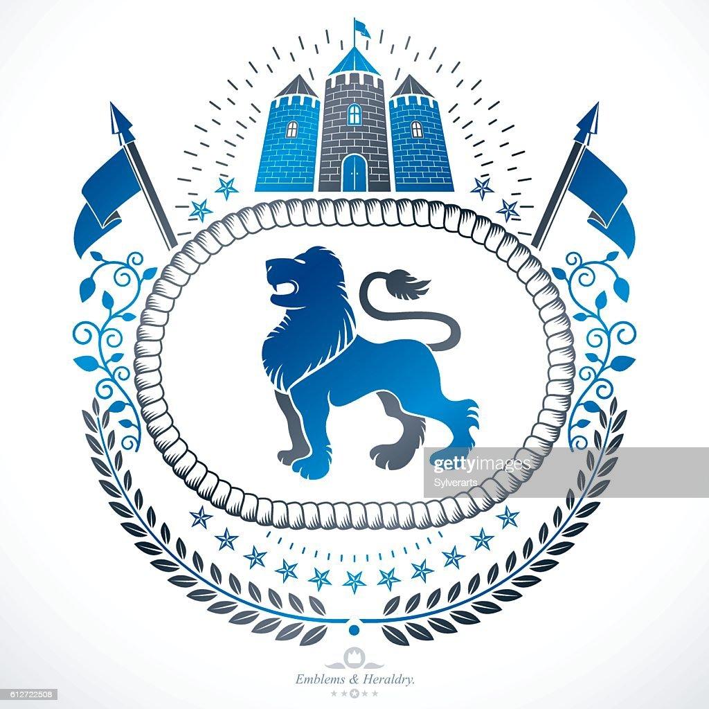 Luxury Heraldic Vector Emblem Template Vector Blazon Clipart