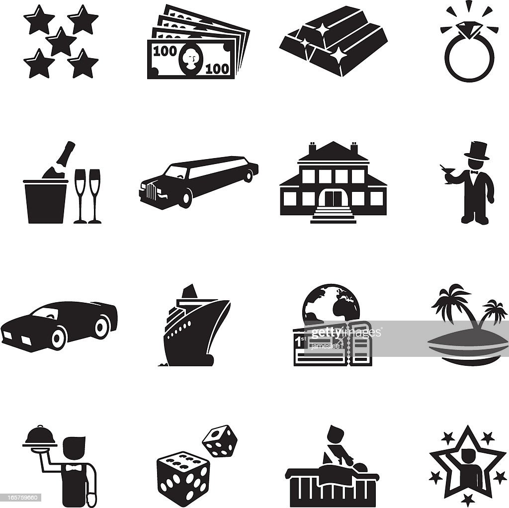 Luxury Life Icons : stock illustration