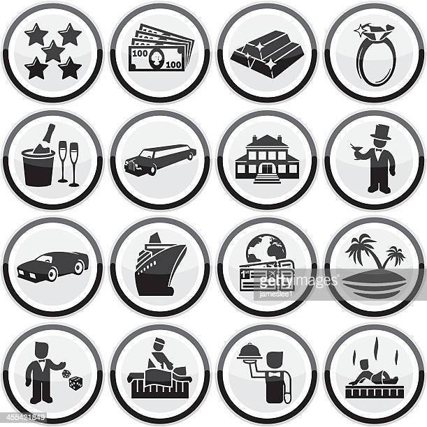 luxury lifestyle icons - butler stock illustrations, clip art, cartoons, & icons