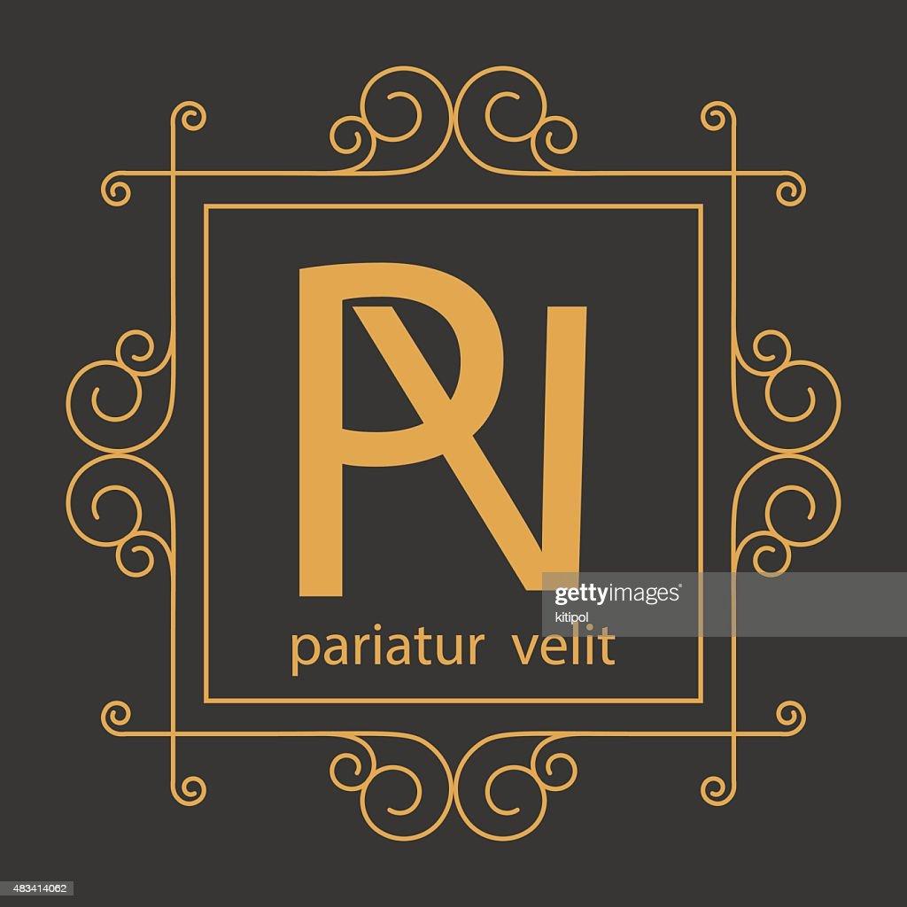 luxury monogram design template,elegant line art,business sign,b