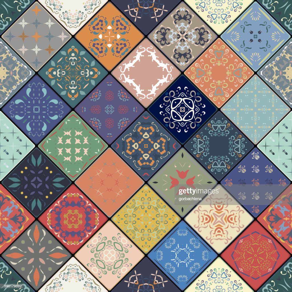 Luxury oriental tile seamless pattern.