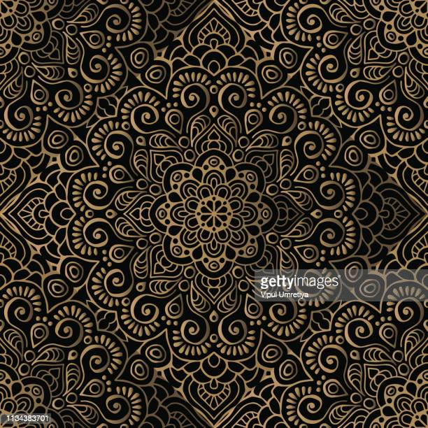 luxury pattern frame - floral pattern stock illustrations
