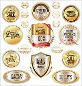 Luxury quality golden badge retro collection