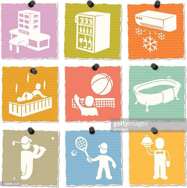 ilustraciones, imágenes clip art, dibujos animados e iconos de stock de complejo turístico de lujo de iconos - bañera con patas