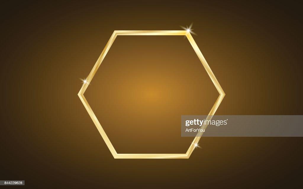 Luxury Shiny Gold Hexagon Background - Geometric Wallpaper