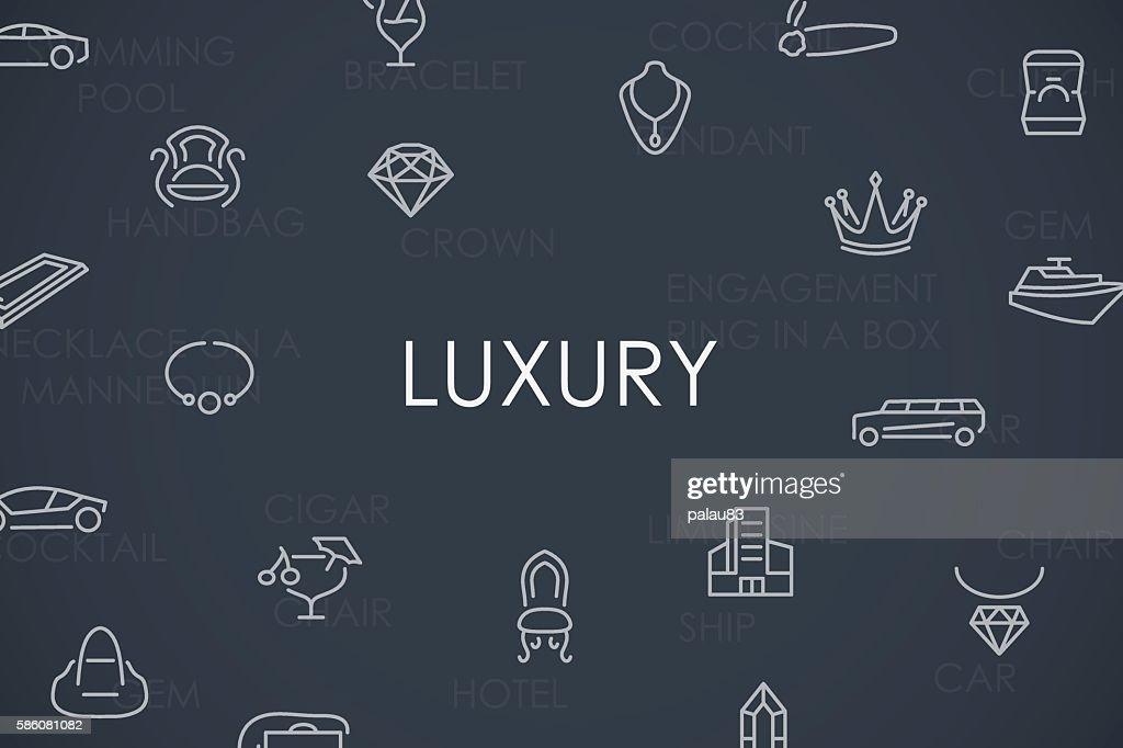 Luxury Thin Line Icons