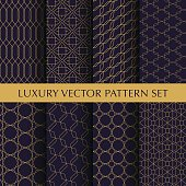 Luxury vector patterns pack