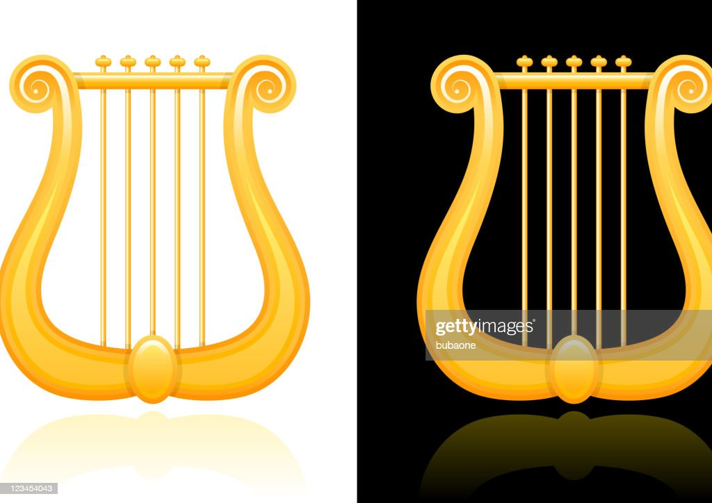 lyre design on black and white Backgrounds