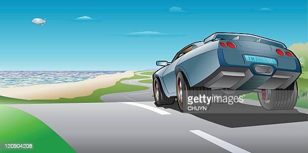 i'm free - sedan stock illustrations, clip art, cartoons, & icons