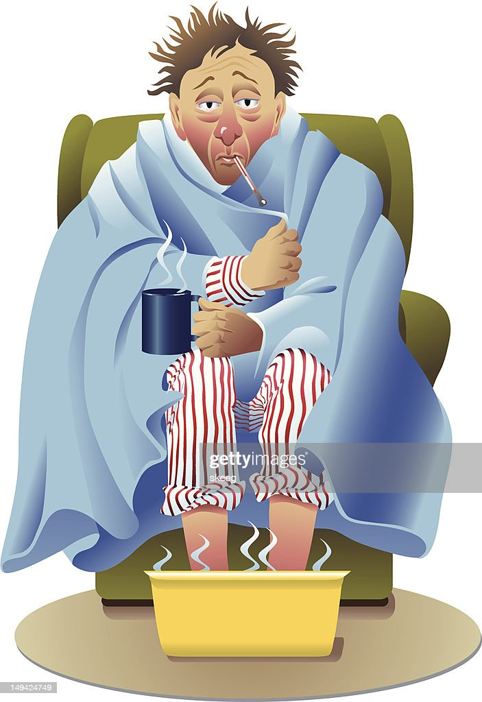 I'm Sick : stock illustration
