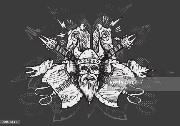 viking metall \/m - heavy metal stock-grafiken, -clipart, -cartoons und -symbole