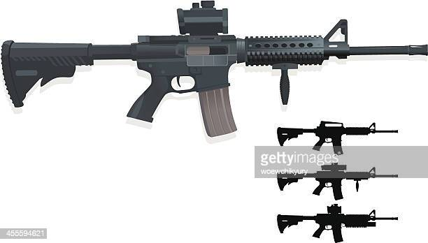 m4a1 - rifle stock illustrations