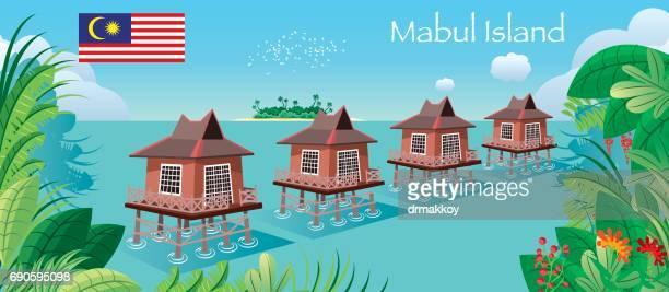 マブル島 - サバ州点のイラスト素材/クリップアート素材/マンガ素材/アイコン素材