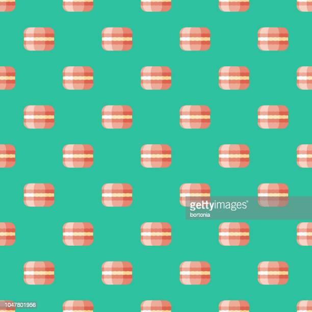 Macaron French Seamless Pattern
