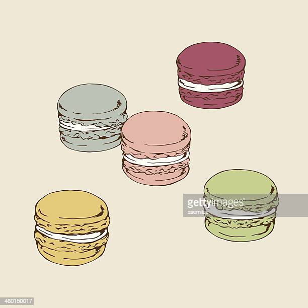 macaroon - french culture stock illustrations