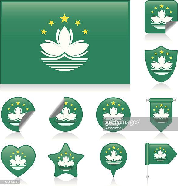 Macau flag set