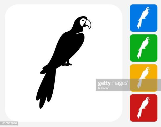 Oiseau Ara icônes graphiques plates
