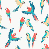 Macaw parrot pattern