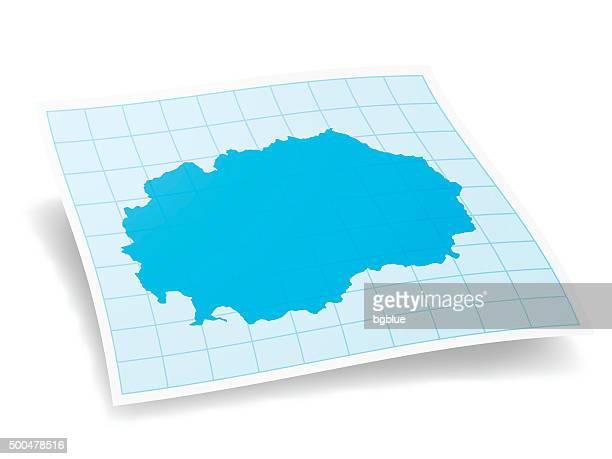Macedonia Map isolated on white Background