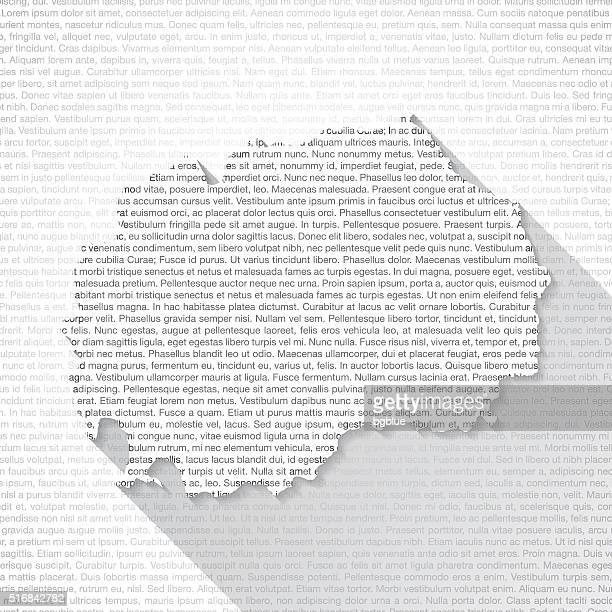 Macedonia Map on Text Background - Long Shadow