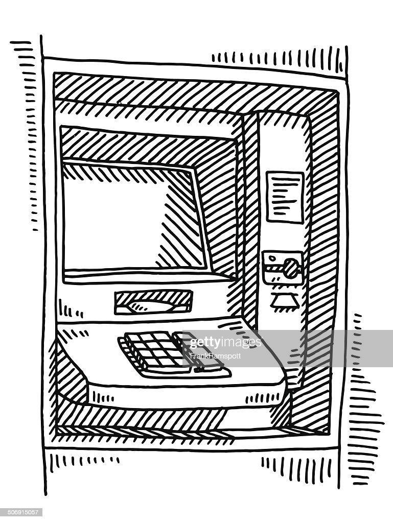 ATM Machine Drawing