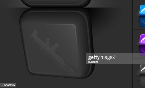 machine gun 3d button design - machine gun stock illustrations, clip art, cartoons, & icons