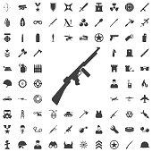 Machine Gun grey icon.