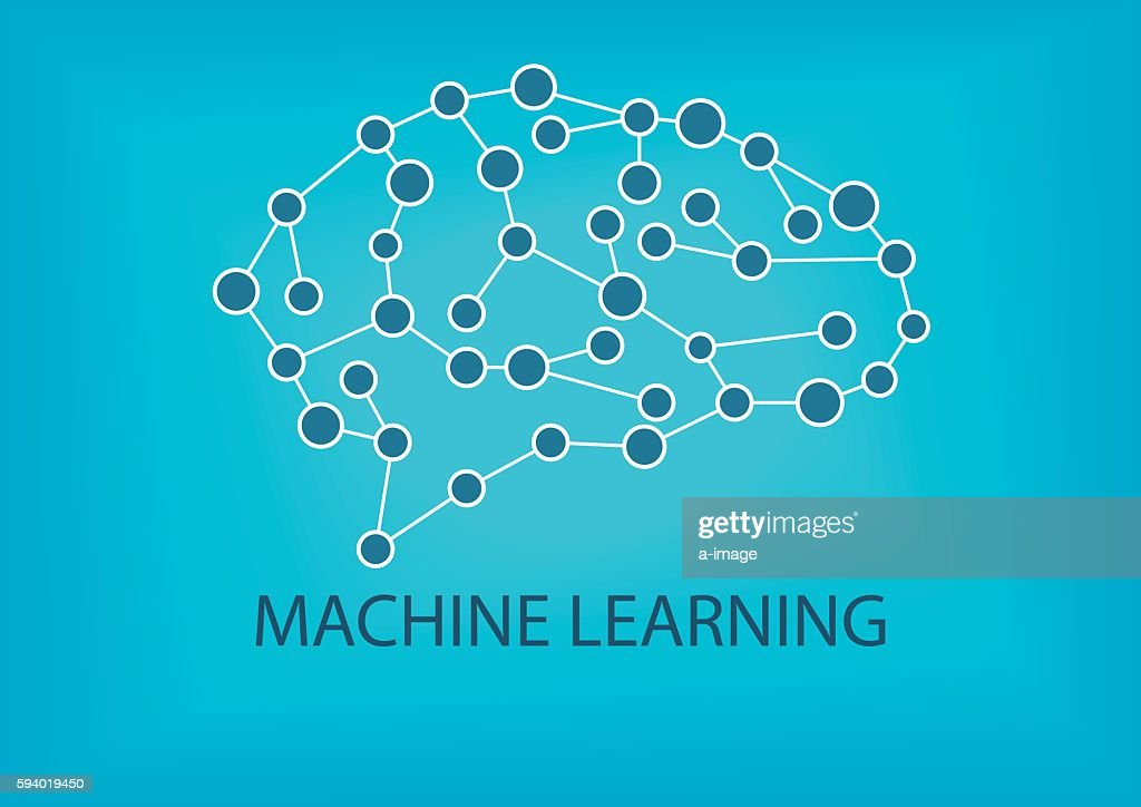 Machine learning concept. Vector illustration of neural network.