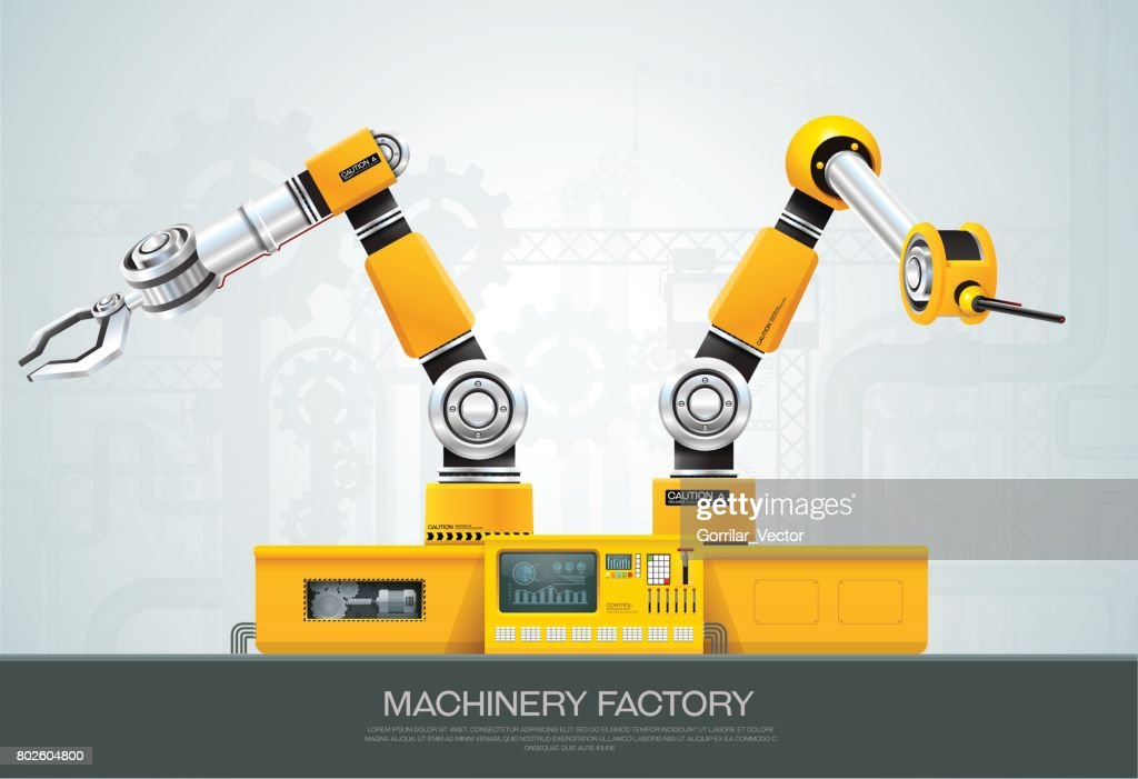 machine robotic robot arm hand factory