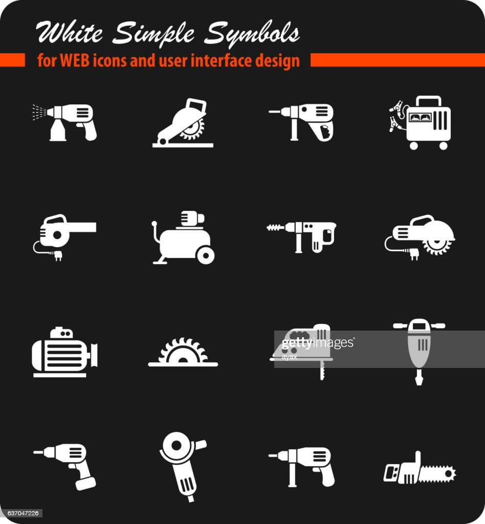 machine tools icon set