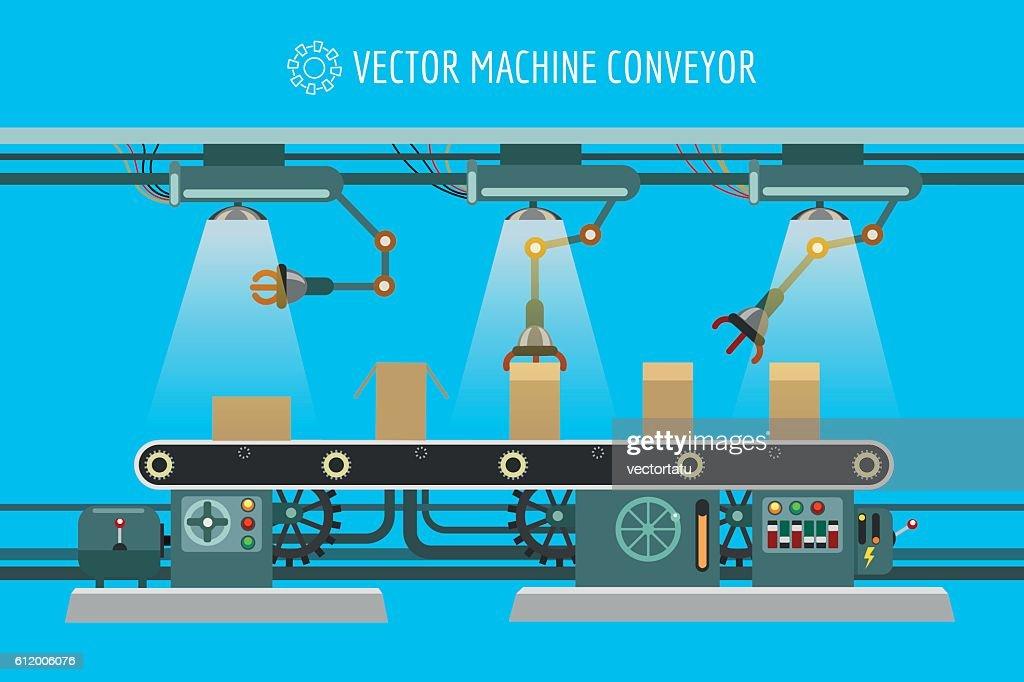 Machinery industrial factory conveyor belt