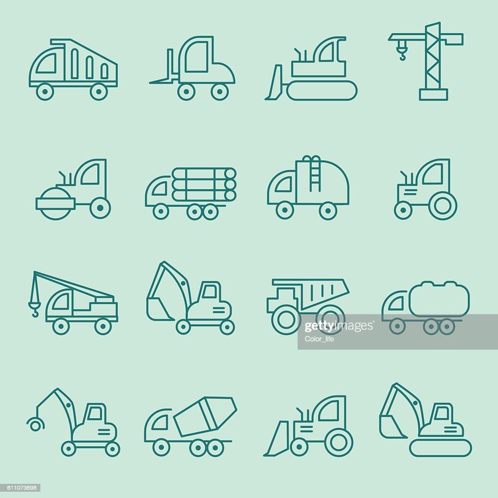Machines icon set.
