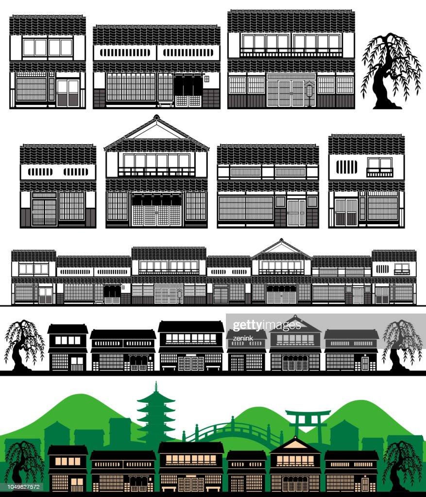 machiya, Japanese traditional houses.