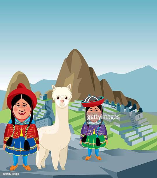 ilustraciones, imágenes clip art, dibujos animados e iconos de stock de machu picchu - machu picchu