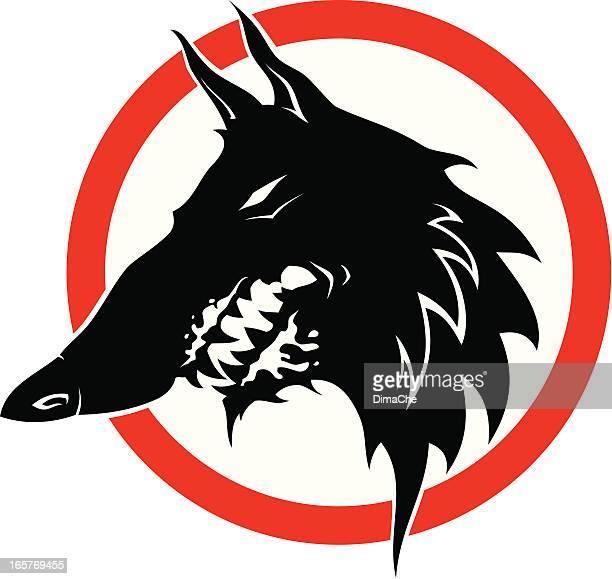 mad dog - animal saliva stock illustrations, clip art, cartoons, & icons