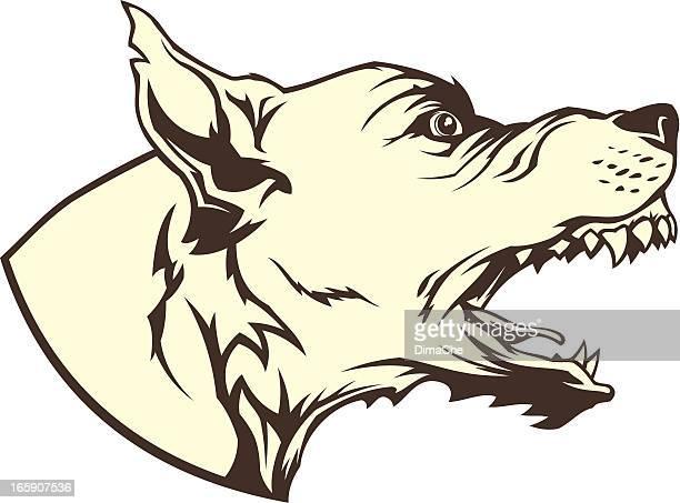 mad dog - aggression stock illustrations