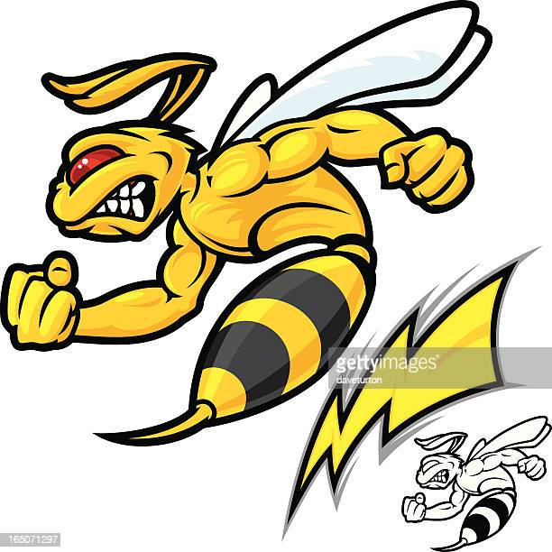 mad hornet lightning - bumblebee stock illustrations, clip art, cartoons, & icons