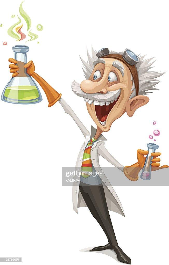 Mad Scientist : stock illustration