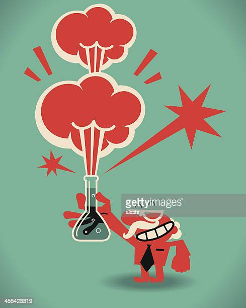 mad scientist - sneering stock illustrations, clip art, cartoons, & icons