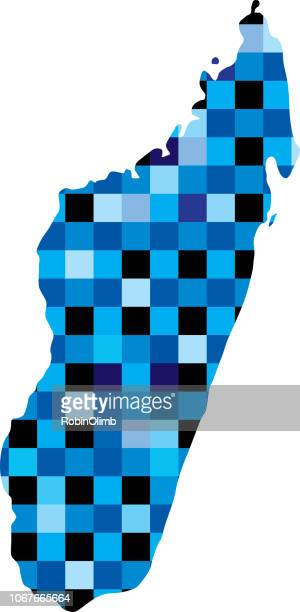 madagascar blue squares map - antananarivo stock illustrations, clip art, cartoons, & icons