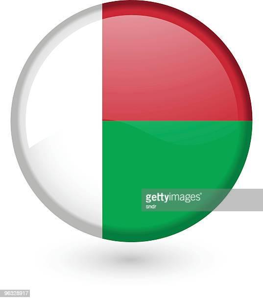 madagascar flag vector button - madagascar stock illustrations, clip art, cartoons, & icons